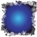 Winter snowflake border Royalty Free Stock Photos