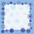 Winter snowflake border Stock Photo