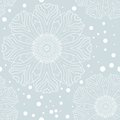 Winter snowflake seamless pattern this is file of eps format Royalty Free Stock Photos