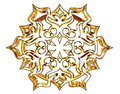 Winter snowflake on a white background