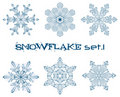Winter snowflakes Royalty Free Stock Photography