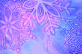 Winter snowflakes artistic background in blue and pink Stock Photography