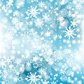 Winter snowflakes background over blue christmas design Royalty Free Stock Photo
