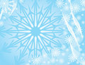 Winter snowflakes background, vector Stock Photos