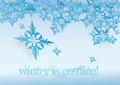 Winter snowflakes vector illustration of Stock Photo
