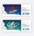 Winter and Snowman Gift Voucher Certificate Template Royalty Free Stock Photo
