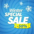 Winter special sale offer poster background Royalty Free Stock Images