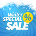 Winter special sale offer poster background Stock Image