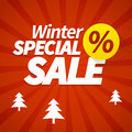 Winter special sale poster offer background Stock Photo