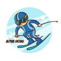 Winter Sport Alpine Skiing Sticker