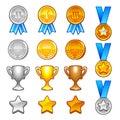 Winter sport awards Stock Image