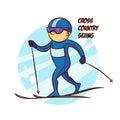 Winter Sport Cross Country Skiing Sticker