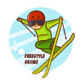 Winter Sport Freestyle Skiing Sticker