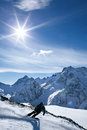 Winter sport snowboarding in snow mountain Royalty Free Stock Image