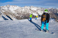Winter sport snowboarding in snow mountain Stock Image
