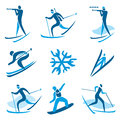 Winter sport symbols icons and of activities vector illustration Royalty Free Stock Photography