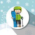Winter sport and wear accesories design theme vector illustration graphic Royalty Free Stock Photography
