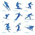 Winter sports icon set 3 Royalty Free Stock Photo