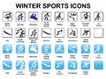 Winter sports icons set of Stock Image