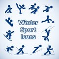Winter sports icons set isolated vector illustration Stock Photo