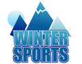Winter sports sign Stock Photography