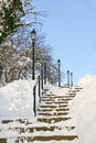 Winter stairway Stock Photo