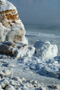 Winter storm seascape - frozen sea Royalty Free Stock Photo