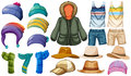 Winter and summer clothes Royalty Free Stock Photo