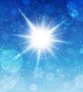 Winter sunny day background. Royalty Free Stock Image