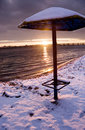 Winter sunset Royalty Free Stock Images