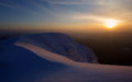 Winter sunset mountain romania Stock Images