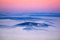 Winter Sunset, Romania