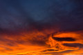 Stormy Winter Sunset Sky Royalty Free Stock Photo