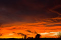 Stormy Sunset Sky Royalty Free Stock Photo
