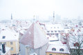 Winter tallinn beautiful view on old in Stock Photography