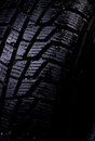 Winter tire in difficult weather conditions the to be useful to each car Royalty Free Stock Photos