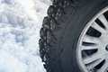 Winter tire part Stock Photos