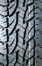 Winter tire tread Royalty Free Stock Photo