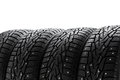 Winter tires set Royalty Free Stock Photography