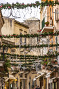 Winter tourism in historical city, Taormina, Sicily Royalty Free Stock Photo