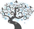 Winter tree background. vector illustration Stock Image