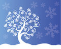 Winter tree illustration of a beautiful Royalty Free Stock Photos