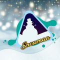 Winter Triangle Blue Snowman Vector Image