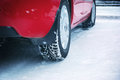 Winter tyres element of design Royalty Free Stock Photography