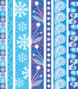 Winter vector border Stock Images