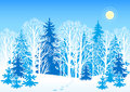 Winter vector landscape Royalty Free Stock Photography