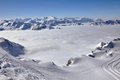 Winter view from Kitzsteinhorn peak, Royalty Free Stock Photography