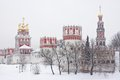 Russian orthodox churches in Novodevichy Convent Royalty Free Stock Photo