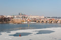 Winter view of Prague Castle Stock Photography