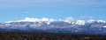 Winter view of rocky mountain in colorado Royalty Free Stock Image